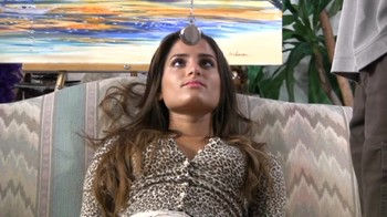 Daddy hypnotizes his brunette daughter and watches her trans (Clip One)