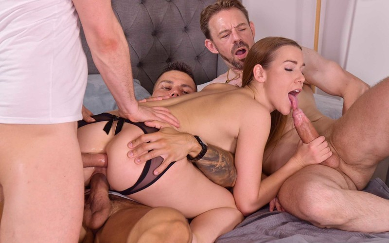 Alexis Crystal - 3 Dudes Stuff Cleaning Lady Airtight For Slacking Off On The Job [HD 720P]